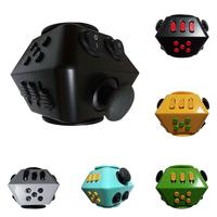Multi Faceted Magic Cube Spin Cube Decompression Finger Toys Anxiety Stress Reliever Kids Adults Stress Cube