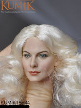DIY 1/6 Female Head Sculpt White Curls Action Figure KM-18-44 Painted