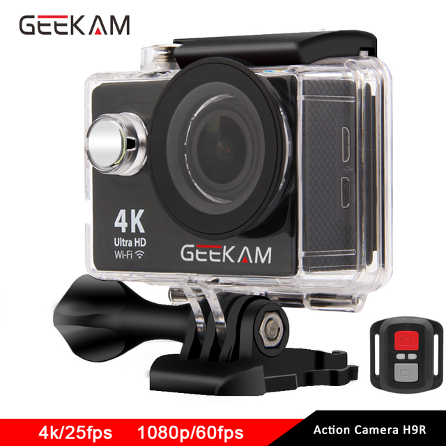 GEEKAM Action Camera H9 H9R Original Ultra Deportiva Camaras go Waterproof HD 4K WiFi 1080P 60fps pro Outdoor 170D Sport Camera