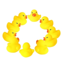 1.4 inch Mini Yellow Ducks Rubber Bath Toy for Baby Kinder Toys Pure Natural Cute Ducky (Set of 60)
