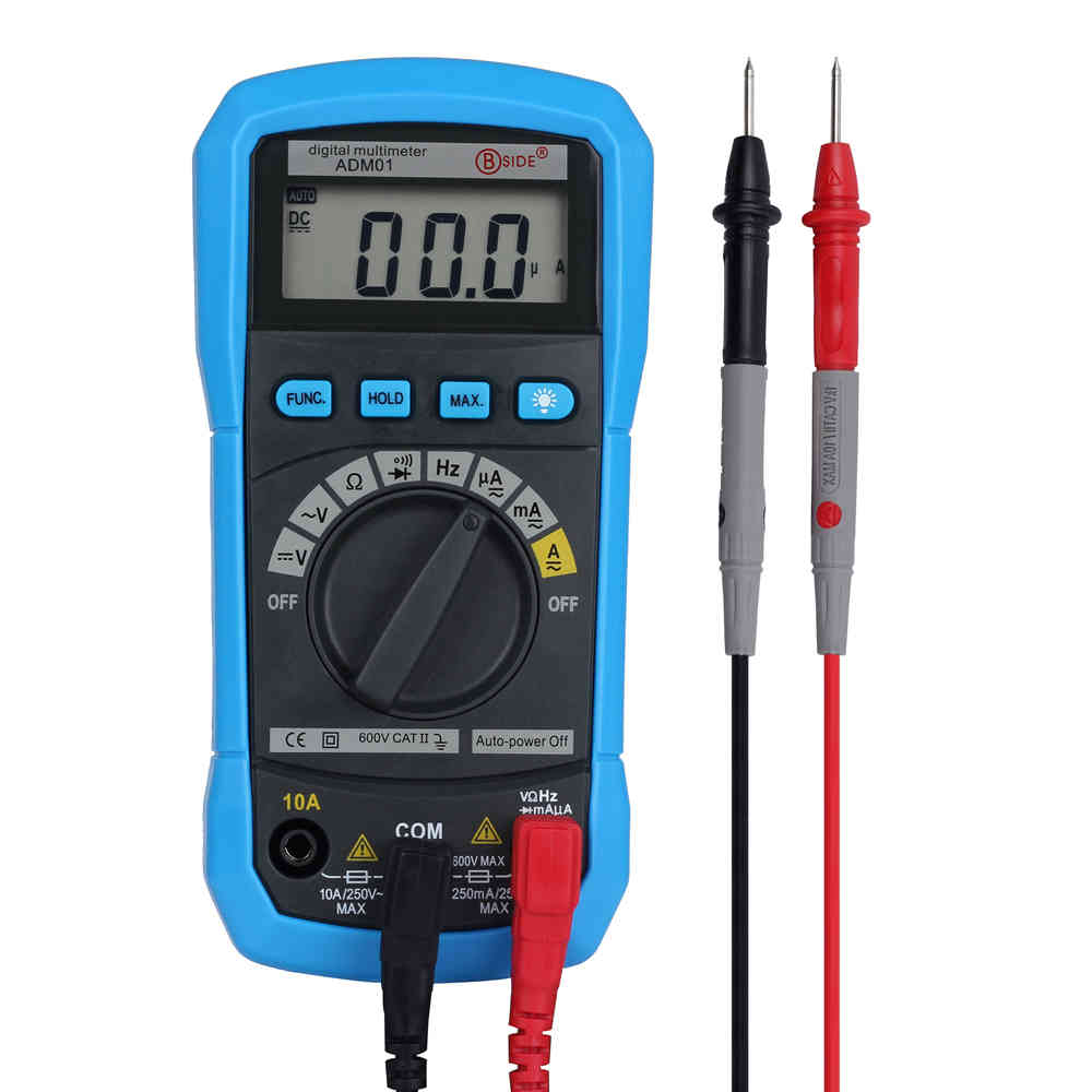 BSIDE ADM02 Auto Ranging Digital Multimeter DMM DC AC Voltage Current Temperature Meter Tester Diode bside adm04 lcd digital multimeter mini pocket 2000 counts dmm dc ac voltage current meter diode tester auto ranging multimetro