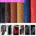 Good 69*50cm1pc Faux PU Leather Fabric Thick Bump Crocodile Pu Synthetic Leather Fabric For Diy Bag Shoe Material 15 colours