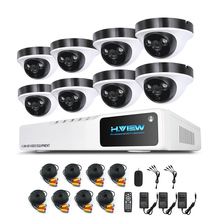 H.View Video Surveillance Kit 8 CH Video Surveillance System 8 1080P CCTV Camera System Kits 8 CH 1080N DVR Easy Phone Access
