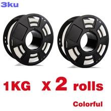 2 Rolls/Pack One Roll 1Kg Pla Kleurrijke Filament/Spool Draad Reprap 3D Printer 1.75 Mm Filament