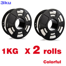 2 Rolls/Pack One roll 1KG PLA colorful filament / spool wire reprap 3D printer 1.75mm filament