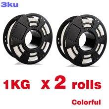 2 Rolls/Pack Un rotolo 1KG PLA colorato filamento/spool di filo reprap 3D 1.75 millimetri stampante filamento