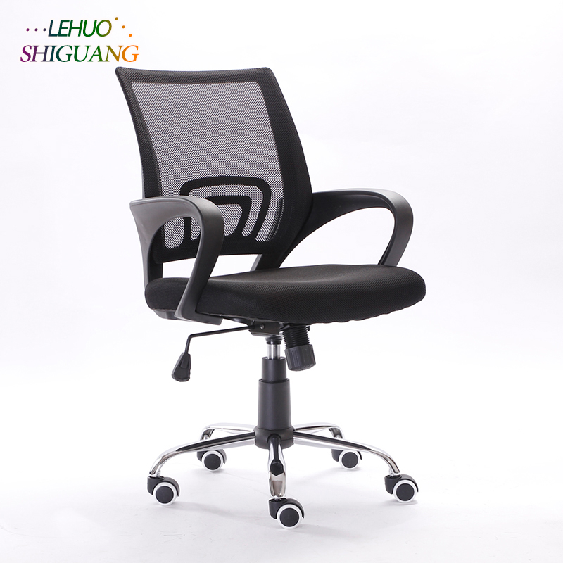 Mesh Back Gas Lift Adjustable Office Swivel Chair Steel frame foot Rotating lift soft office chair Fashion office furniture high back executive chair gas lift adjustable office meeting room swivel chair with armrest dropshipping