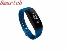 Smartch V07 смарт-браслет сердечного ритма Мониторы Приборы для измерения артериального давления Браслеты Фитнес трекер smartband для iOS и Android VS FIBIT