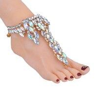 Coolshine 2017 Fashion Ankle Bracelet Wedding Barefoot Sandals Beach Foot Jewelry Sexy Pie Leg Chain Female