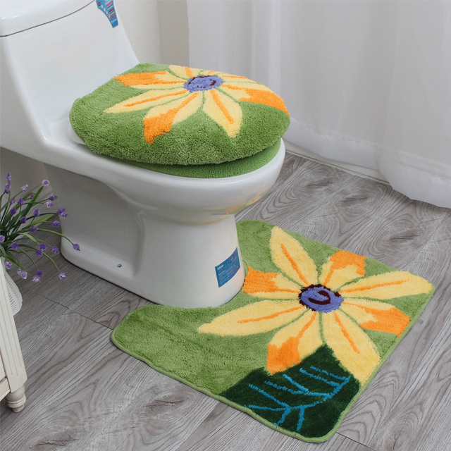 Source · Sunflower Toilet Set Bathroom Washable Toilet Seat Cover Soft Potty