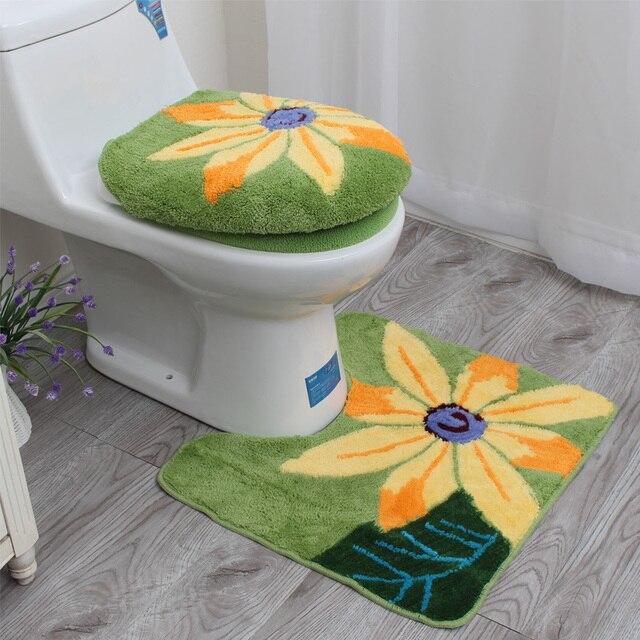 Aliexpress.com : Buy Sunflower Toilet Set Bathroom Washable Toilet ...