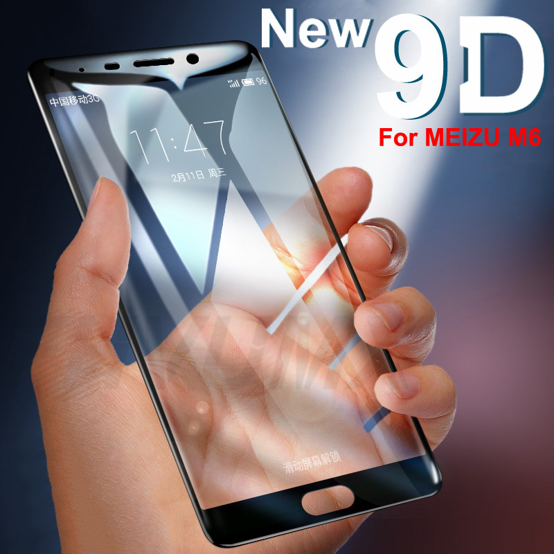 9D Full Cover Tempered Glass On The For Meizu Pro 7 Plus M6 M6S M6T M5 M5S M5C M3S M3E M3 M5 M6 Note Screen Protective Film Case