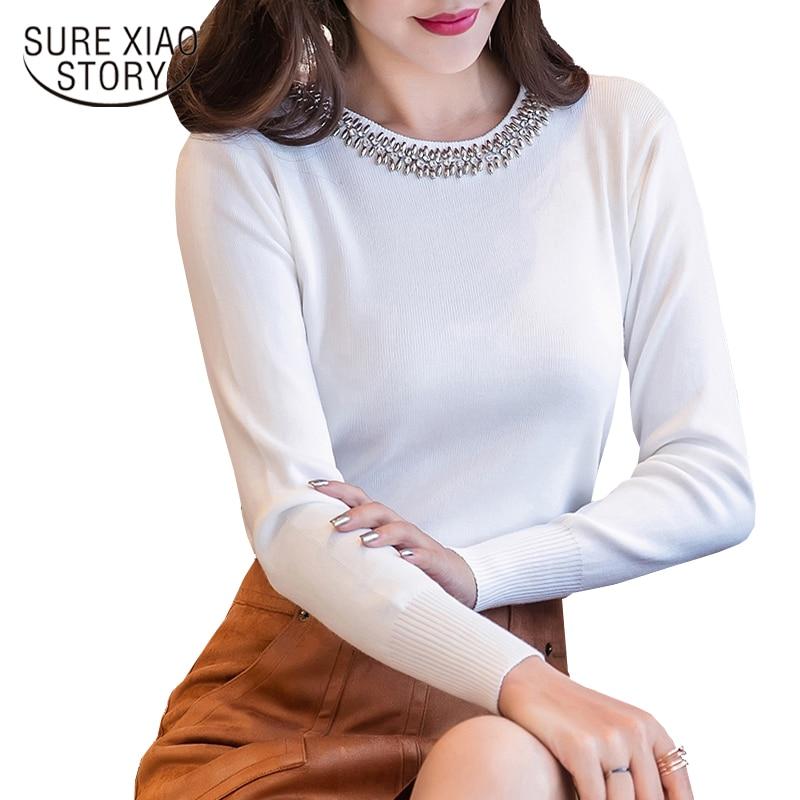 2019 Mujeres Las Mujer De Larga 30 Blanco Blusa Blusas Ropa Camisa El Manga Black white Collar O Slim Nueva Más Sólido Tamaño D85 Otoño Tops fpwqtfr