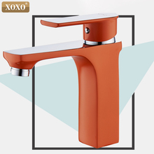 XOXO Innovative style household multi-color bathroom basin faucet hot and cold water tap white, green,orange Faucet basin mixer