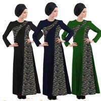 Hot Koop Nieuwe Volwassen Kant Gewaad Musulmane Turkse Dubai Mode Moslim Abaya Jurk kant Gewaden Arabische Eredienst Kleding Top