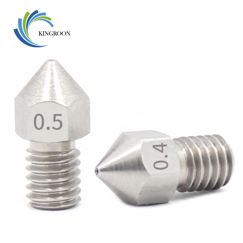 купить 5pcs/lot MK8 V5 V6 Stainless Steel Nozzle 0.3mm 0.4mm 0.5mm M6 Threaded Part For Extruder 3D Printers Parts 1.75mm 3mm Filament