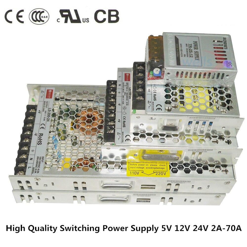 цена на AC DC 12 V 24V 2A 4A 8A 10A 14A 16A 20A 29A Slim Power Supply 110V 220V for 5050 3528 WS2812B LED strip Transformer Led driver