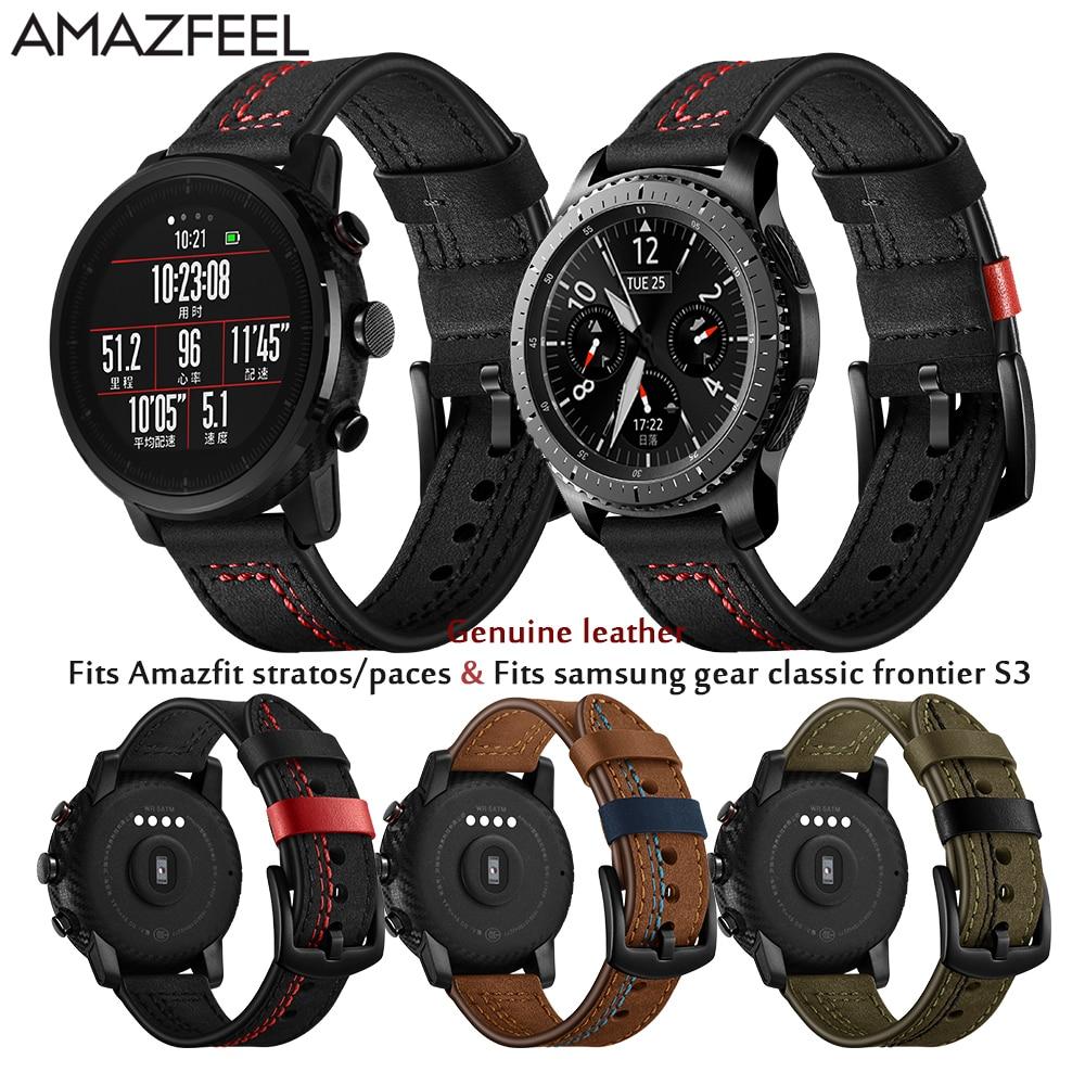 Watch Strap for Xiaomi Amazfit Pace Correa Accessories for Xiao mi Huami Amazfit Stratos 2 Bracelet Samsung Gear S3 Watchband