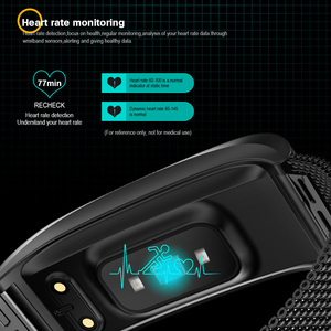 Image 3 - VERYFiTEK F4 Metal Smart Band Wristband Blood Pressure Heart Rate Monitor Men Women Fitness Watch Pedometer Smart Bracelet