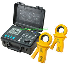 2 3 4 Pole Double Clamps Earth Ground Resistance Tester Meter Soil Resistivity RK Wire Compensation