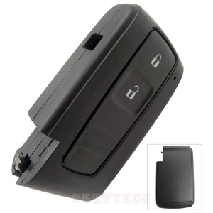 Image 2 - OkeyTech carcasa de repuesto para llave remota, 2 botones, para Toyota Prius Corolla Verso, tarjeta inteligente sin hoja