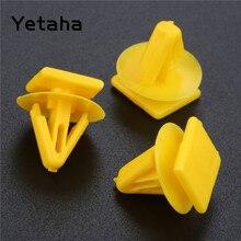 Yetaha 50 шт. для hyundai 11 мм отверстие автомобиля внутренняя отделка двери панель удерживающие зажимы заклепки пластик фиксированный крепеж