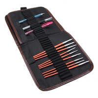 Bolsa portátil para lápices de lona, estuche para lápices, bolsa para herramientas, estuche para maquillaje