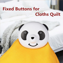 12pcs/set Lovely Cut Panda Buttons for Cloths Quilt Cover Anti-slip Fixed Buckle Security Magmetic Fixing