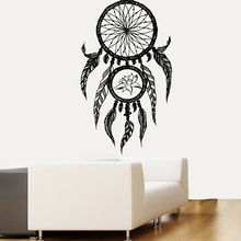 Lotus Wall Decal Vinyl Dream Catcher Stickers Home Bedroom Decoartion Boho Style Art Mural AY0273