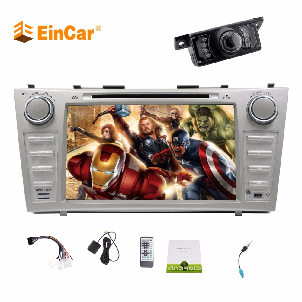 8 Octa Core Bluetooth FM/AM Radio CD/DVD Player for Car Touch Screen Stereo GPS Navigation for Toyota Camry Head Unit Receiver