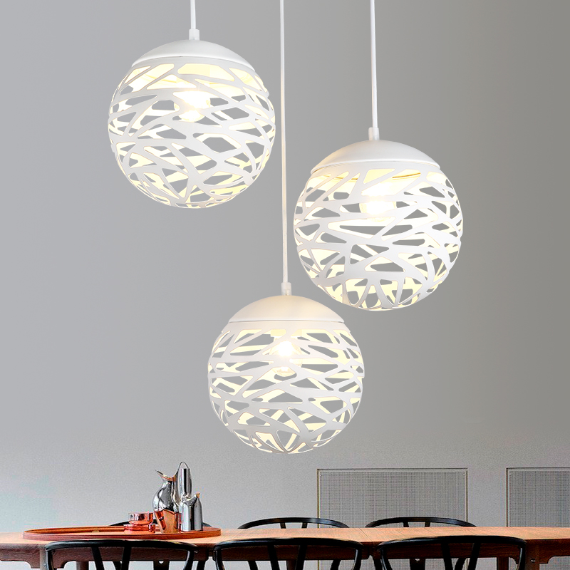 Free Shipping Modern Led Pendant Lamp White Black Painting Metal Pendant Light for Stair Dinning Living Room Hanging Lighting hot sale ball pendant light fixture small black or white pendant lamp lighting hanging restaurant lamp free shipping