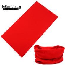 100% Polyester Microfiber Tubular Multifunction Motorcycle Scarf Headband Seamless Tube Bandanas Solid Bandanas Outdoor Red