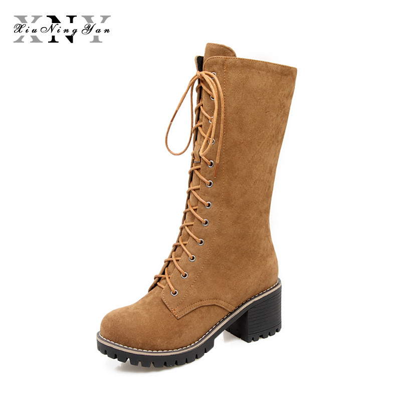 Winter Women Boots Mid-Calf  Fashion Boots Female Waterproof Ladies Snow Boots Girls Winter Shoes Woman Plush Insole Botas Mujer 2016 fashion waterproof snow boots women s mid calf boots flat winter botas mujer platform fur shoes woman size 30 52