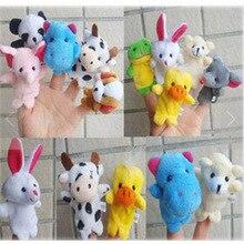 20pcs free shipping Plush toys Cartoon Animal Finger Puppet Plush Doll Baby Story Educational Plush Stuffed Toys