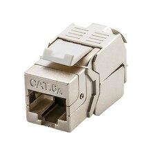 Linkwylan Netwerk Cat5e Cat6 Cat6A Toolless Keystone Jack Module Volledige Afgeschermde RJ45 Socket Lsa Toolfree Beëindiging