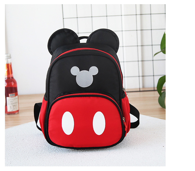 2 5 Years Baby Plush Backpack Cute Cartoon Black Red Minni amp Mickey the Mouse Plush Bag Soft Toy Children 39 s School Bag in School Bags from Luggage amp Bags