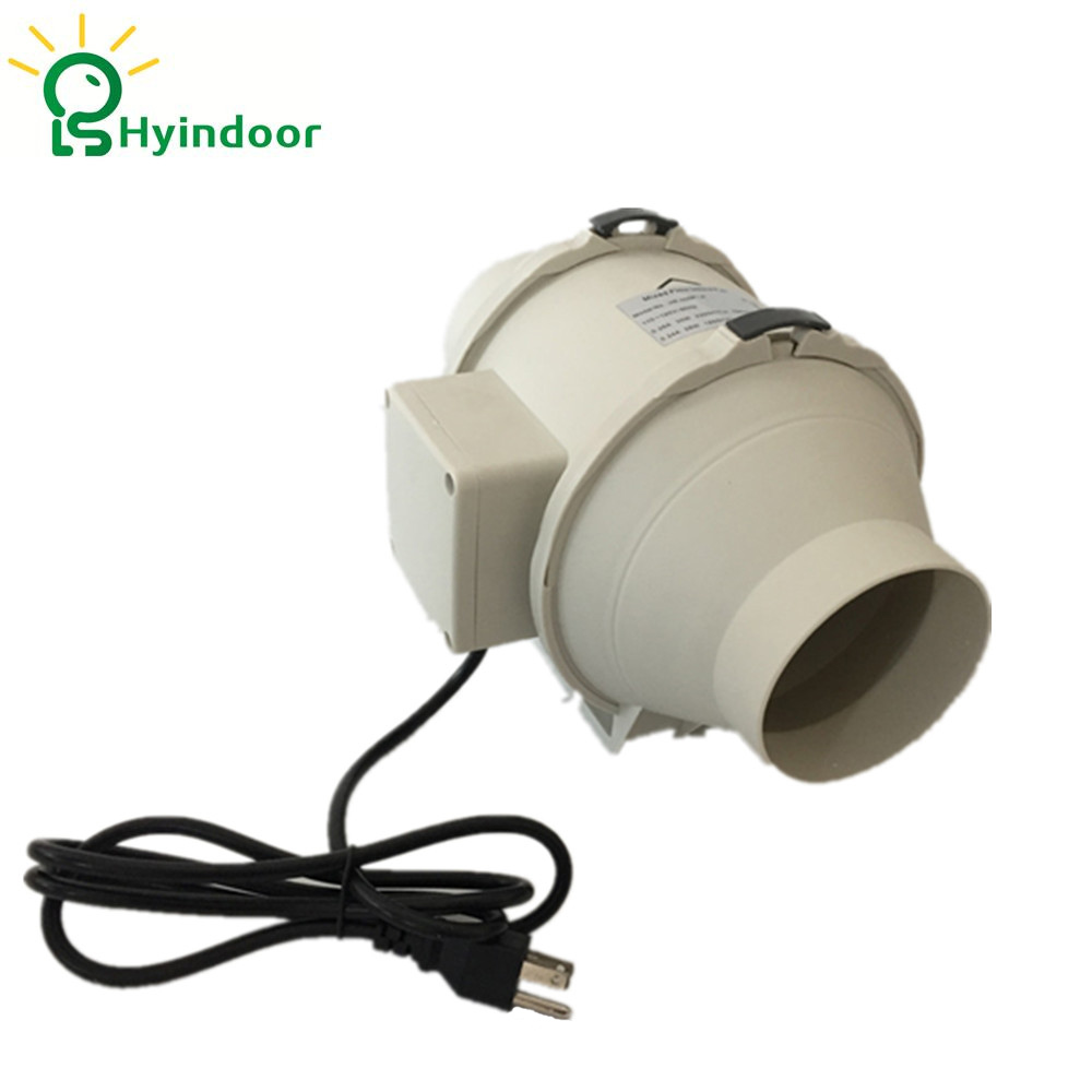 Hydroponic Grow Room 4 Inches Mixed Flow Inline Ventilation s