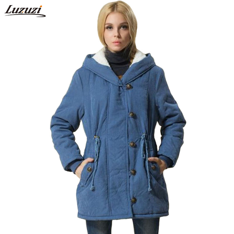 Femmes Ouatée D'hiver Hiver Polaire Chaquetas Jaqueta Mujer Survêtement Veste orange Green À Manteau Taille Noir army La Plus Feminina bleu Z798 Capuchon Pc Inverno 1 xpXwtt