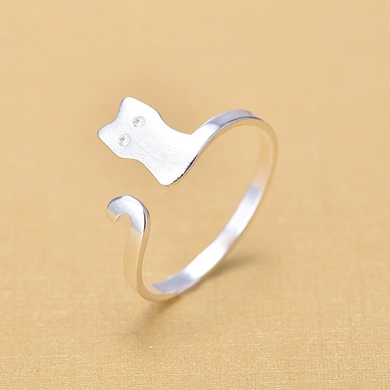 Купить женское кольцо из серебра 925 пробы с открытым пальцем