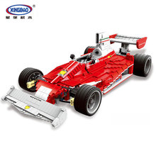 XingBao 03023 Genuine 2405PCS The Red Racing Car Set Building Blocks Bricks Educational Toys for Children Holiday Gifts XB03023 цена