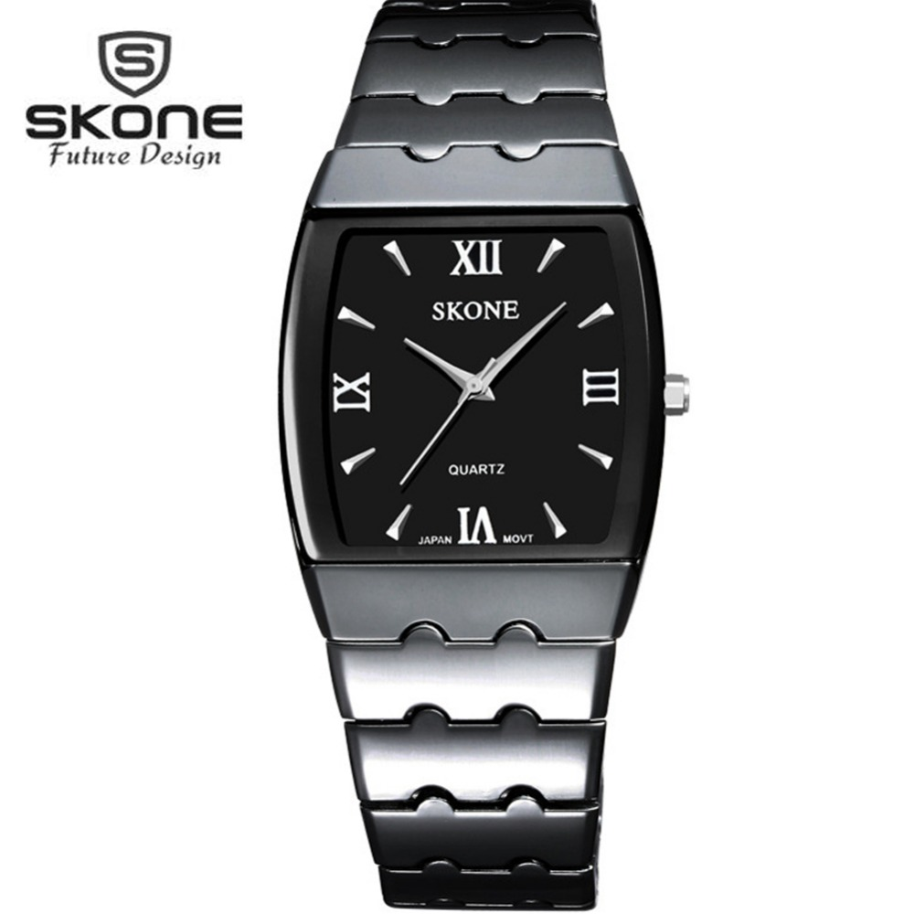 SKONE Dress Watches Men Top Brand Luxury Unisex Mens Quartz Watch Women Famous Ladies Watch Relogio Masculino Feminino XFCS New  brand new women watches luxury design quartz watch women unisex mens leather business wrist watches relogio feminino reloj jo