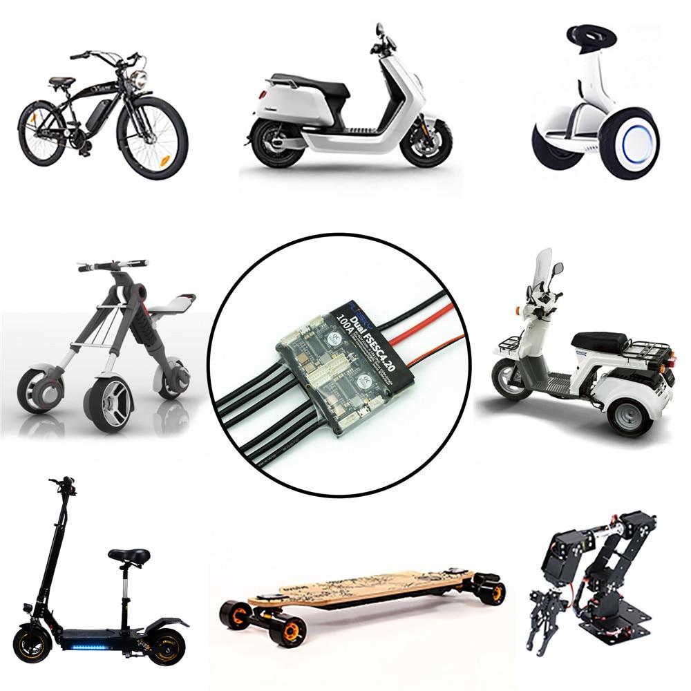 HGLRC-Flipsky double FSESC4.20 100A ESC + aluminium dissipateur thermique électrique Longboard RC voiture/e-bike/e-scooter pour RC modèles jouets pièces