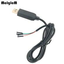 MCIGICM 50 قطعة جديد 1 متر USB إلى RS232 TTL UART PL2303HX السيارات محول USB إلى COM مهائي كابلات وحدة رائجة البيع
