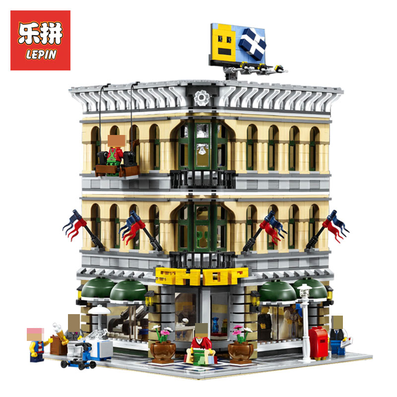 LEPIN 15005 2232Pcs City Creator Grand Emporium Model Building Blocks Bricks action Brick Toys for Children LegoINGlys 10211
