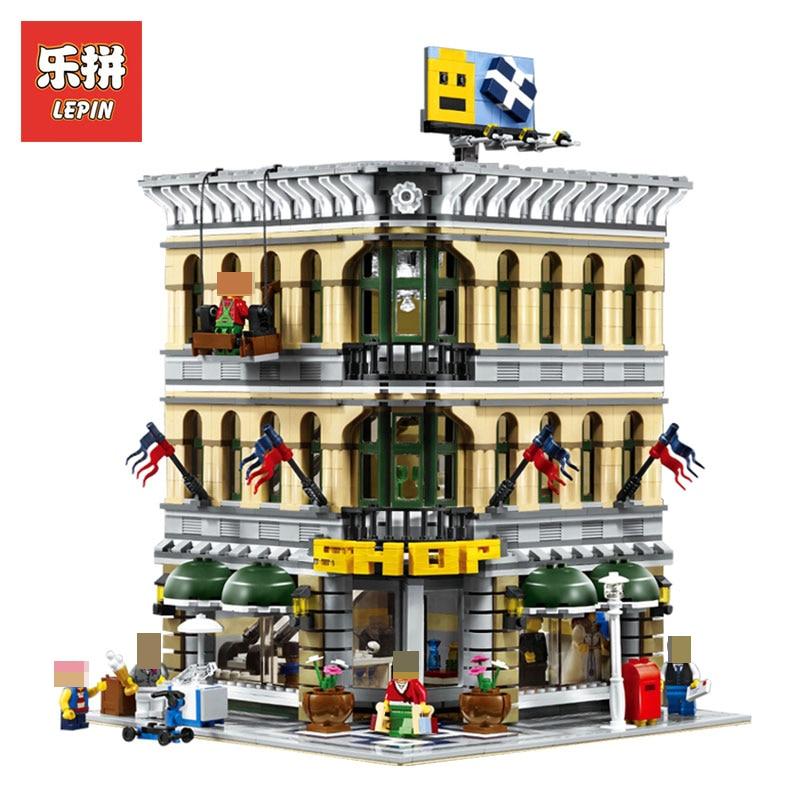 LEPIN 15005 2232Pcs City Creator Grand Emporium Model Building Blocks Bricks action Brick Toys for Children LegoINGlys 10211 цена