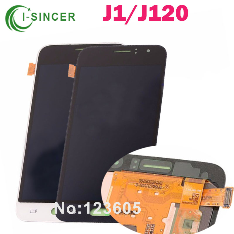 Black 4.5 inch Full LCD Display +Touch Screen Digitizer Glass Lens Assembly For Samsung Galaxy j1 J120 J120F brand new for samsung j1 lcd display with touch screen digitizer for samsung galaxy j1 j120f j120m j120h sm j120f lcd 3 color