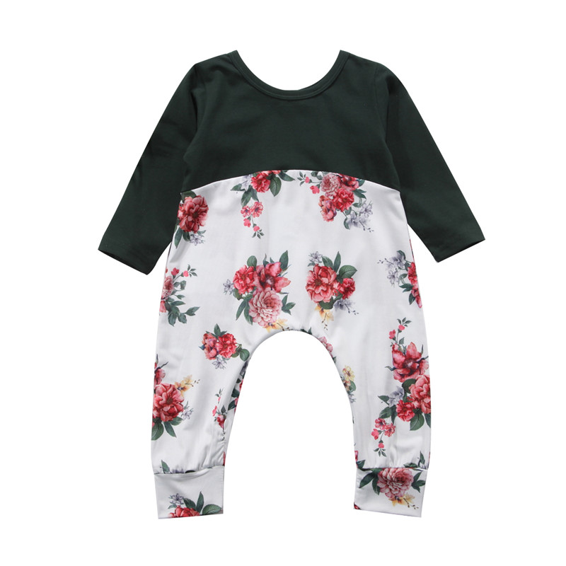 Infant Newborn Baby Girls Clothes Long Sleeve Romper Jumpsuit Sunsuit Outfit Baby Clothing