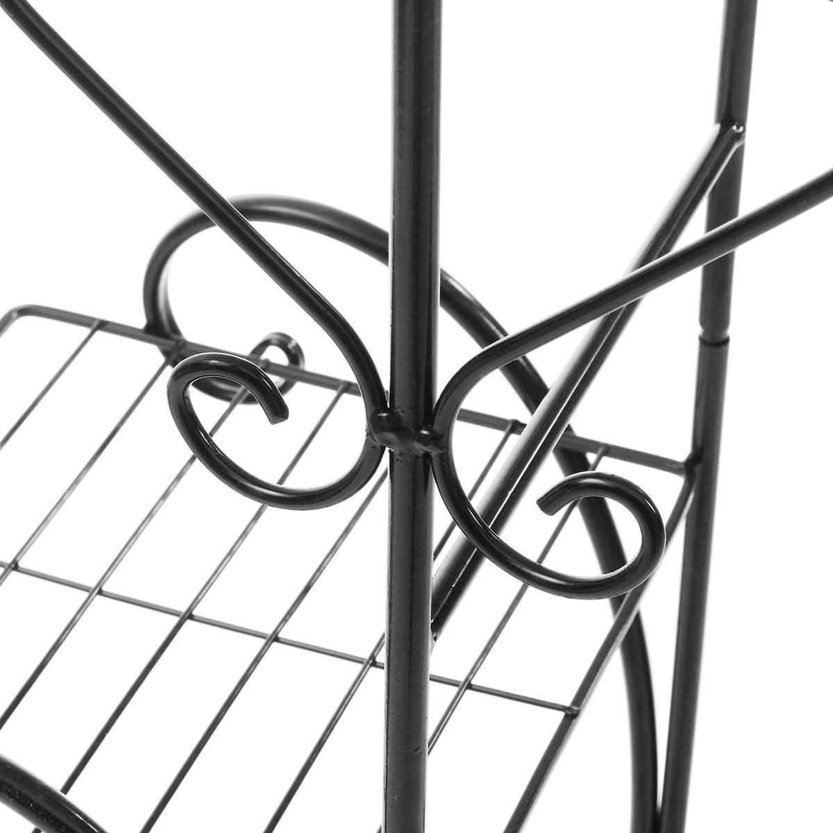 4 層メタル植物スタンド陳列棚ホルダー装飾ガーデンバルコニー植木鉢棚家の装飾のために/屋外オフィス職場
