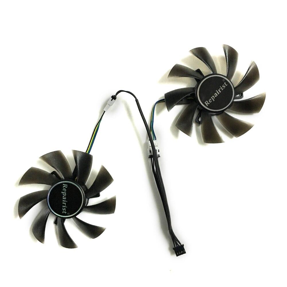 2 pcs/lot 4pin 85mm refroidisseur ventilateur de la carte Graphique pour REDEON RX 570 GIGABYTE rx570 gaming 4 GB vidéo carte GPU de refroidissement