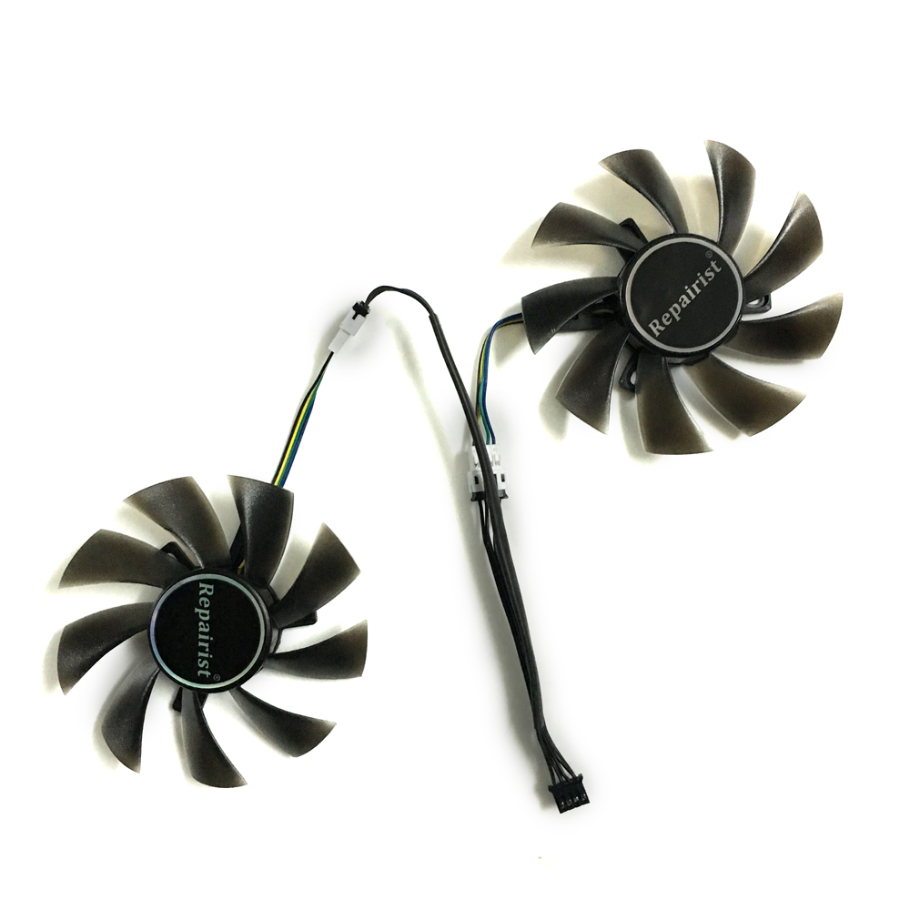 2pcs/lot 4pin 85mm cooler Graphics card fan for REDEON RX 570 GIGABYTE rx570 gaming 4 GB video card GPU cooling 2pcs lot computer radiator cooler fans rx470 video card cooling fan for msi rx570 rx 470 gaming 8g gpu graphics card cooling